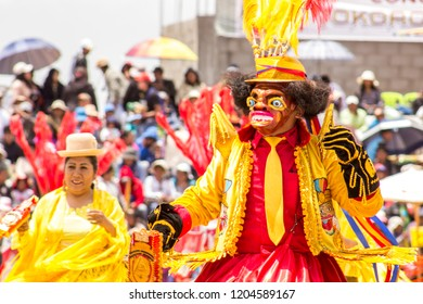 Diablada, Caporal, Morenada & Tinkus  Dancers at Juliaca Carnival Celebration - Puno, Juliaca Perú. March 05, 2017