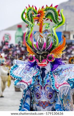 42e6f7a0b4 Diablada Dancers at La Candelaria Virgin Celebration - Enrique Torres Belón  Stadium - Puno