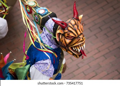diablicos, the typical carnival masks in Panama