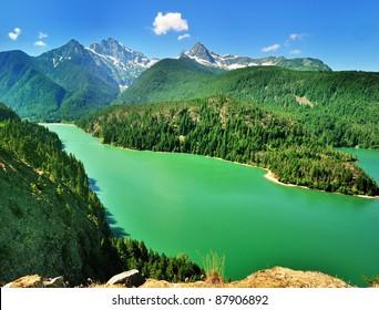 The Diablo Lake view