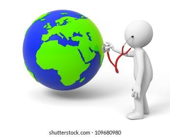 Diagnose/environmental protection /earth/a people diagnose the earth