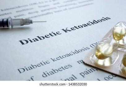 Diagnosis Diabetic Ketoacidosis dka and syringe.