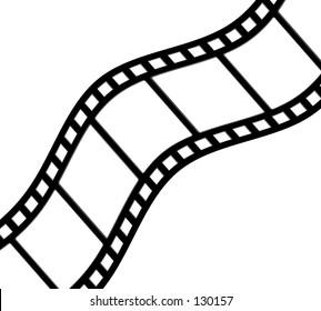 Diagonal, curved film strip