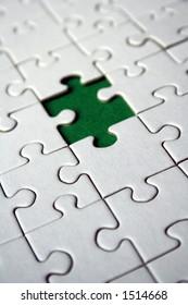 Diagonal green jigsaw element (concepual)