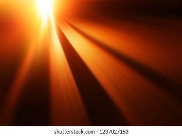 Diagonal motion blur sunset rays background
