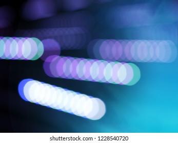 Diagonal neon purple illumination bokeh background