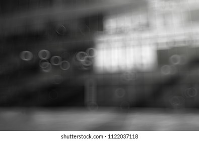 Diagonal office building bokeh background