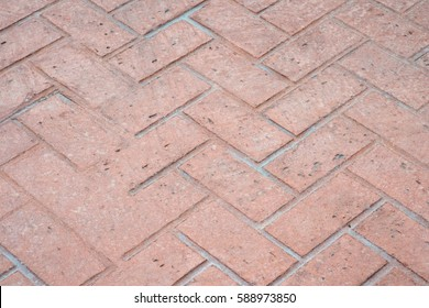 DIAGONAL PATTERN OF BRICK TONE STAMPED CONCRETE (FOR BACKGROUND)