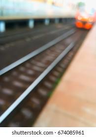 Diagonal railway bokeh background