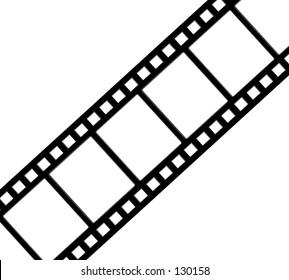Diagonal, straight film strip