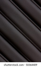 Diagonal texture of black leather.