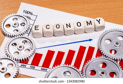 Diagram with gears and the term economy