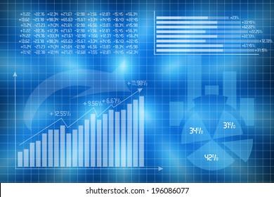 Diagrams charts illustrate statistics concept