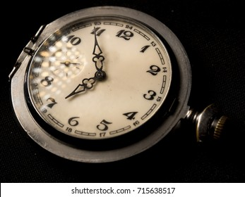 dial and clock hands, antique clock