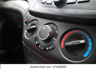dial and knob control in car