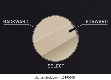 Dial switch to change from backward to forward