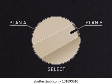 Dial switch to change from Plan A to Plan B