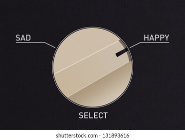 Dial switch to change from sad to happy