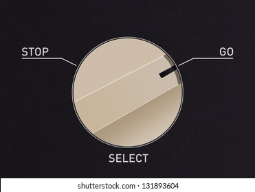 Dial switch to change from stop to go