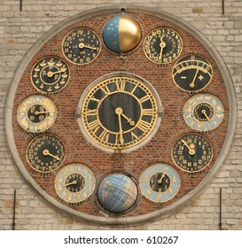 Dial of the world famous zimmer clock