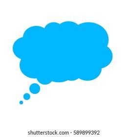 Dialog question thought speech bubble