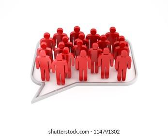 dialog social people concept