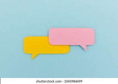 Dialog - two blank speech bubbles