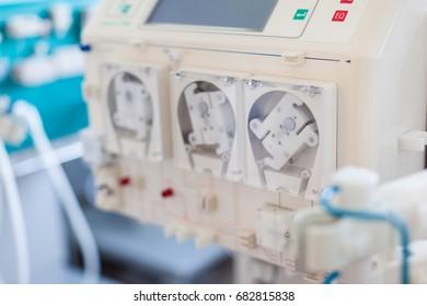 a dialyser or hemodialysis machine in an hospital ward