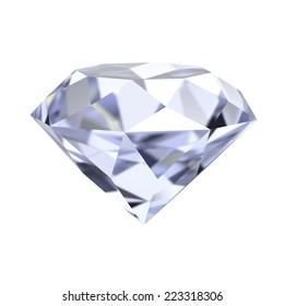 diamond 3d render illustration