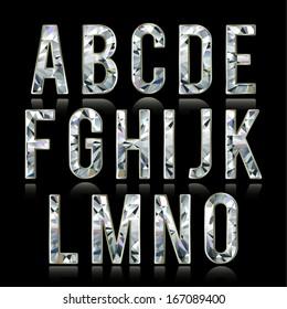 Diamond alphabet letters (uppercase) - raster version