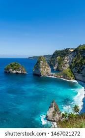 Diamond Beach, Nusa Penida, Bali, Indonesia.