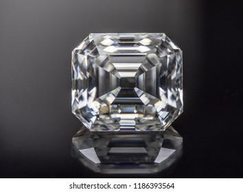 Diamond big carat. Asscher cut diamond