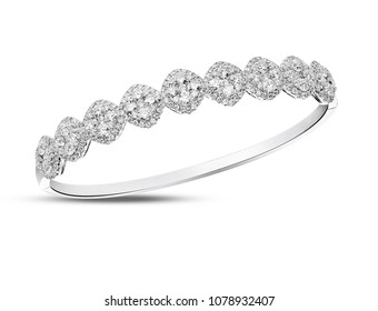 Diamond bracelet bangle