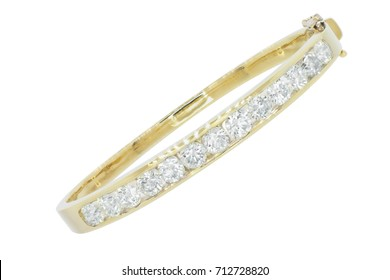 diamond bracelet made in gold angle
