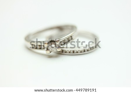 Diamond Channel Set Engagement Ring Wedding Stock Photo Edit Now
