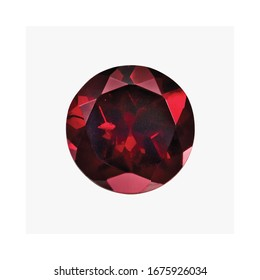 Diamond Color Garnet Round Shape