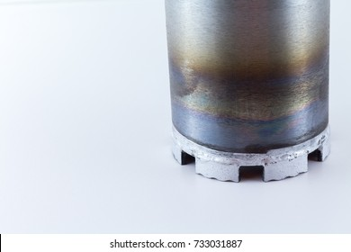 diamond core drill isolated on white background