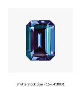 Diamond Created Alexandrite Shape Cushion Emerald Heart Marquise Octagon Checkerboard Oval Pear Square Trillion