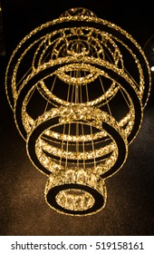 Diamond crystal chandelier with luxury design