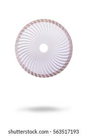 Diamond disc on a white background