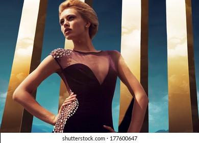 Diamond Dress on Golden Sky