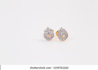 Diamond earrings Golden