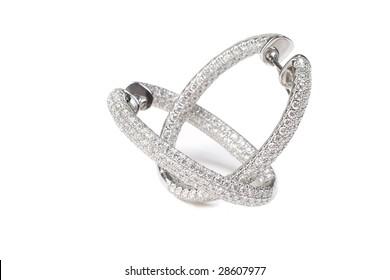 Diamond earrings from white gold