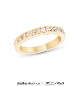 Diamond Eternity Ring Anniversary Band 14K yellow Gold