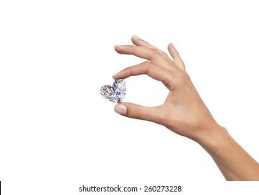 diamond in the hand