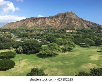 Diamond Head Clear Skies Oahu Hawaii