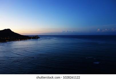 Diamond Head Hawaii Waikiki Sky Sea