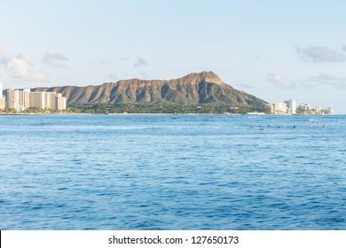 Diamond head Oahu islands Hawaii  USA
