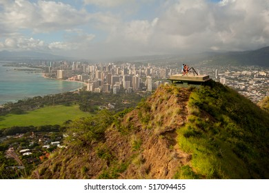 Diamond Head pillbox, Honolulu, Oahu, Hawaii.