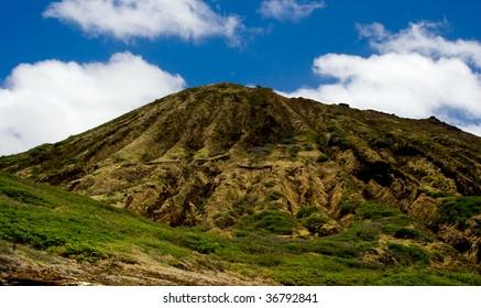 Diamond Head volcano near Waikiki beach on the island of Oahu Hawaii
